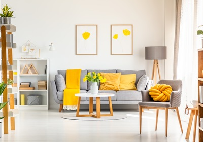 Ideas to Utilize Gray and Yellow in New Smyrna Beach New Homes